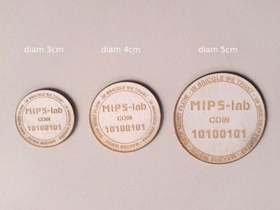 premier test de découpe/gravure des nouveaux jetons MIPS-lab