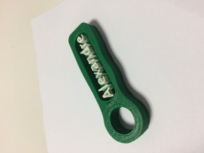 Porte clef Alex imprimer