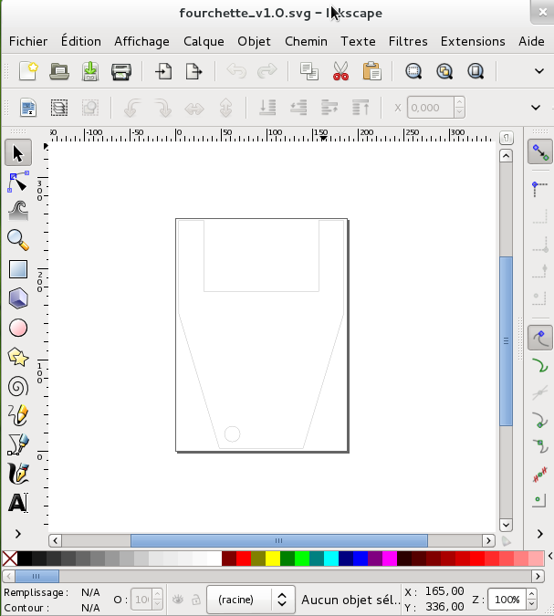 capture inkscape fourchette