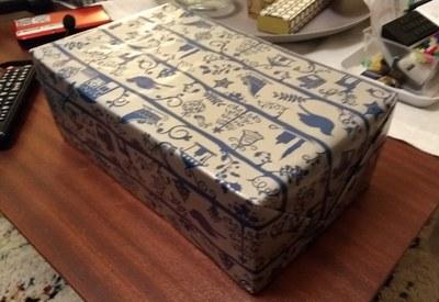 boite recouverte papier cadeau