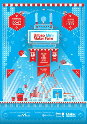 Affiche Bilbao Mini Maker Faire 2014